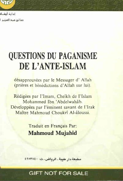 Questions du paganisme de l'ante-Islam