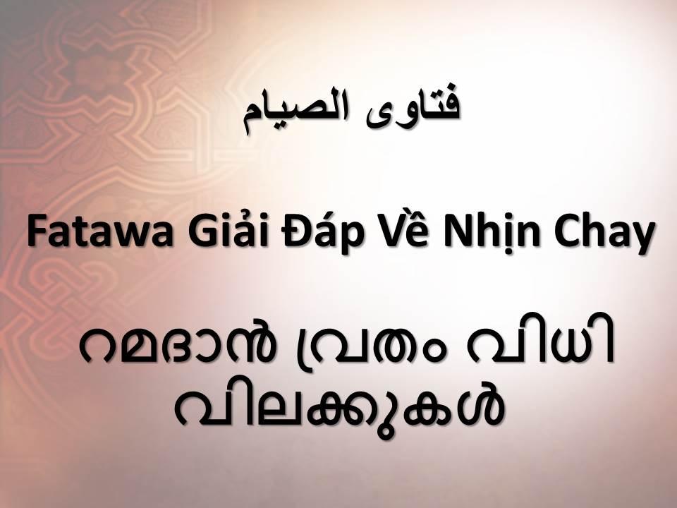 Fatawa Giải Đáp Về Nhịn Chay