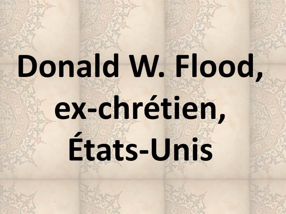 Donald W. Flood, ex-chrétien, États-Unis