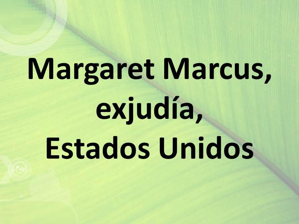 Margaret Marcus, exjudía, Estados Unidos
