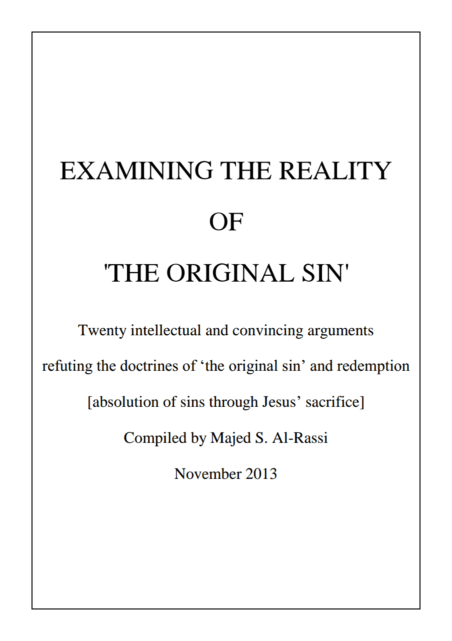 EXAMINING THE REALITY OF 'THE ORIGINAL SIN'