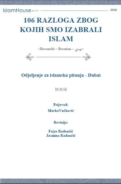 106 razloga zbog kojih smo izabrali islam