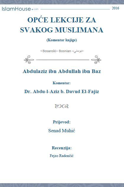 Opće lekcije za svakog muslimana (komentar knjige)