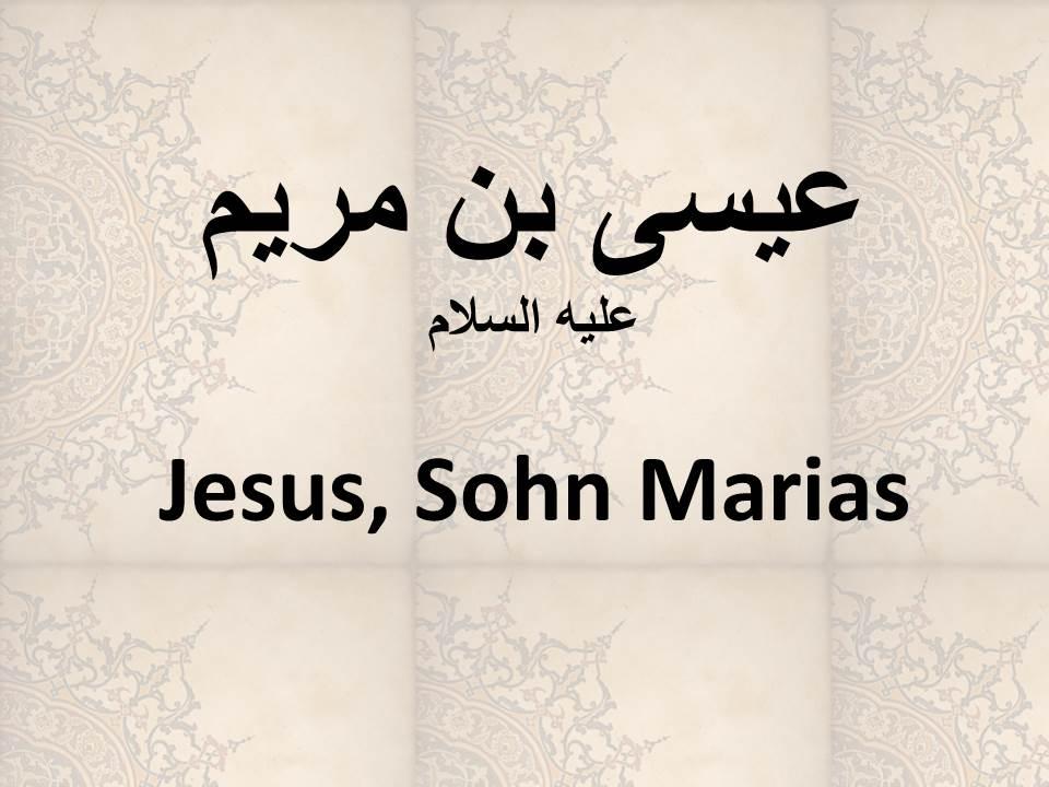 Jesus, Sohn Marias