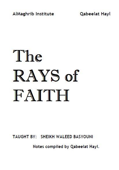 Rays of Faith: Fundamentals of Faith Notes