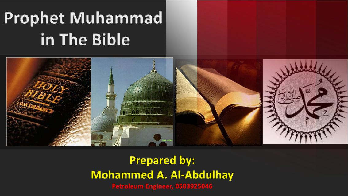 Prophet Muhammad in the Bible