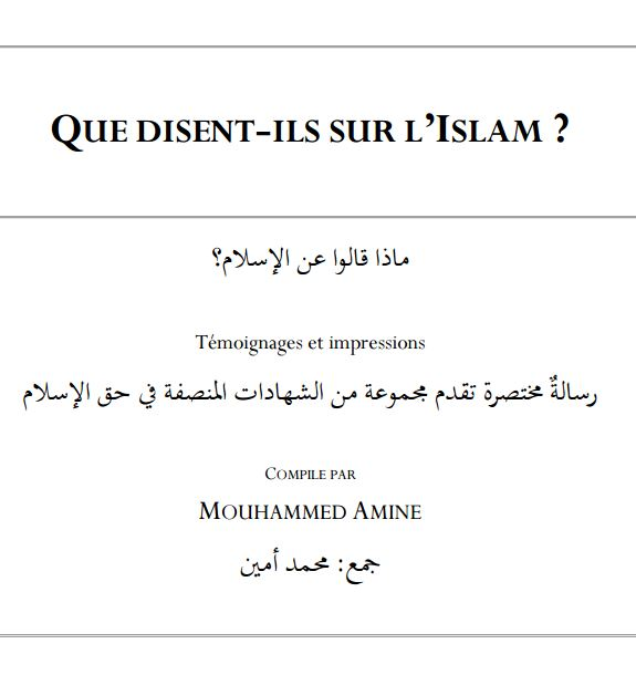 Que disent- ils sur l'islam?