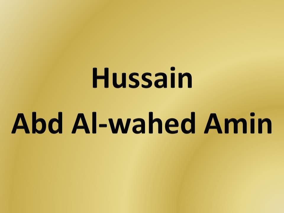 Hussain Abd Al-Waheed  Amin, Ex-Catholic, Ireland - ger