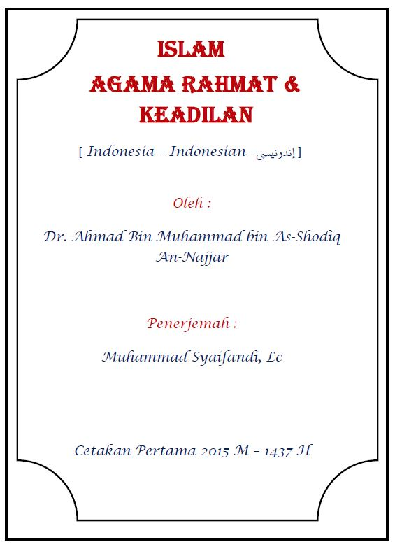 Islam Agama Rahmat & Keadilan
