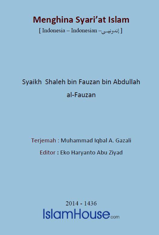 Menghina Syari'at Islam