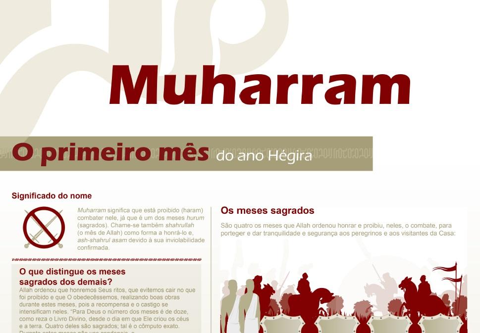 Muharram O primeiro mês do ano Hégira