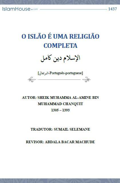 O ISLÃO É UMA RELIGIÃO COMPLETA