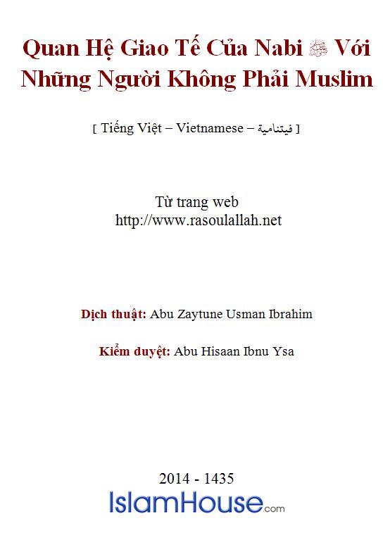 Quan Hệ Giao Tế Của Nabi Với Những Người Không Phải Muslim