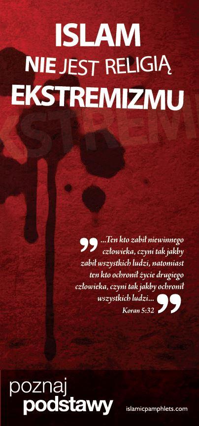 Islam nie jest religią ekstremizmu