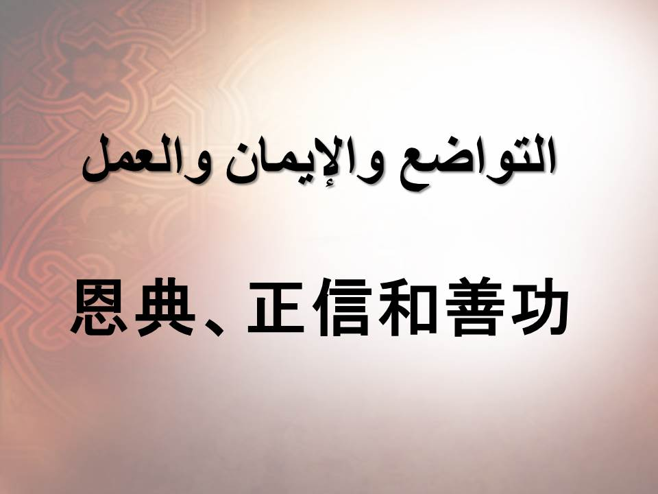 恩典、正信和善功