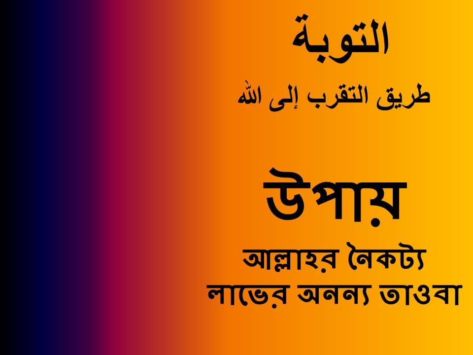 আল্লাহর নৈকট্য লাভের অনন্য উপায়: তাওবা