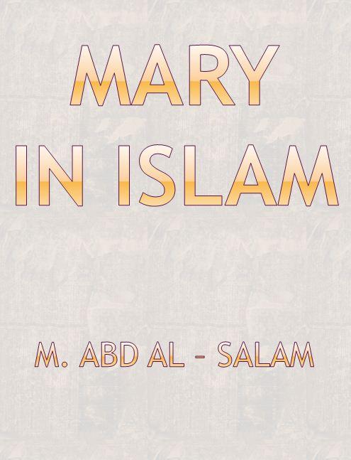 La vierge Marie dans l'islam