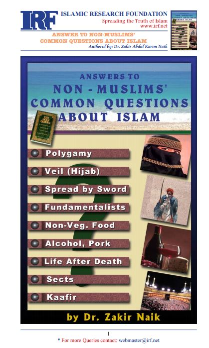 Answers to non-muslims common questions about Islam
