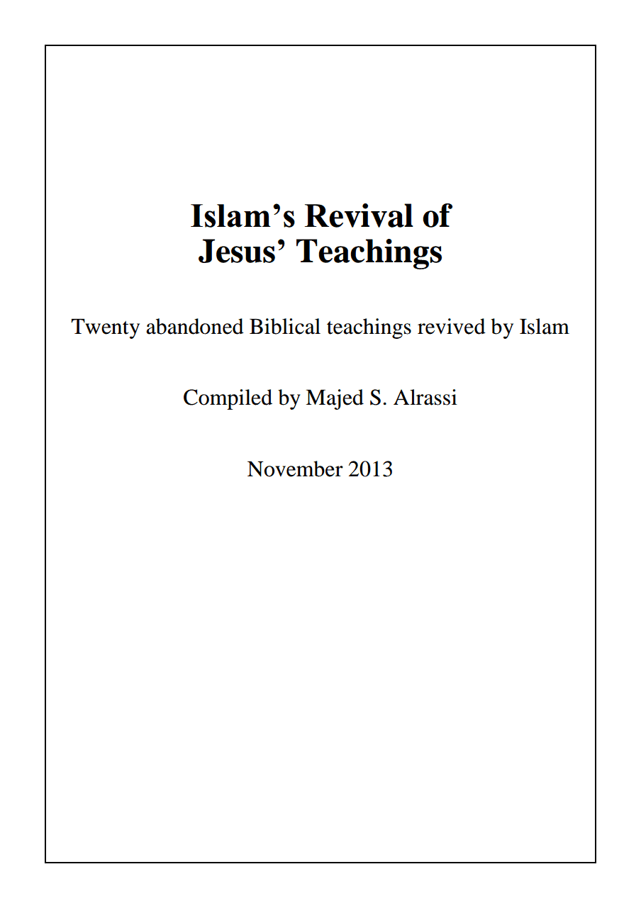 Islam's Revival of Jesus' Teachings
