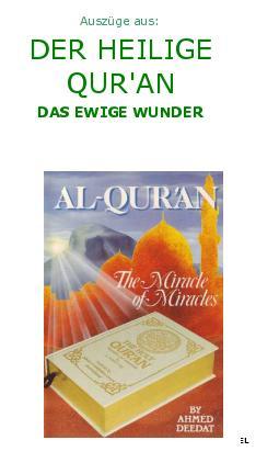 Auszüge aus : Der Quran das ewige Wunder