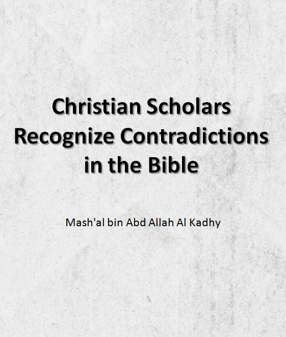 Christian Scholars Recognize Contradictions in the Bible
