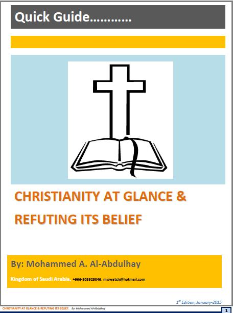 Christianity at Glance and Refuting Its Belief