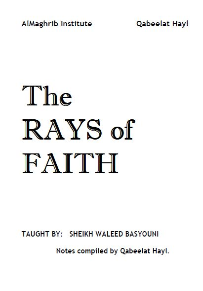 Rays of Faith: Fundamentals of Faith Notes