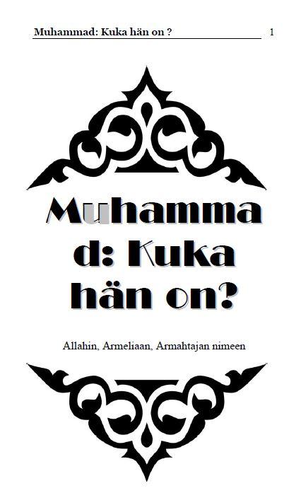 Muhammad: Kuka hän on ?