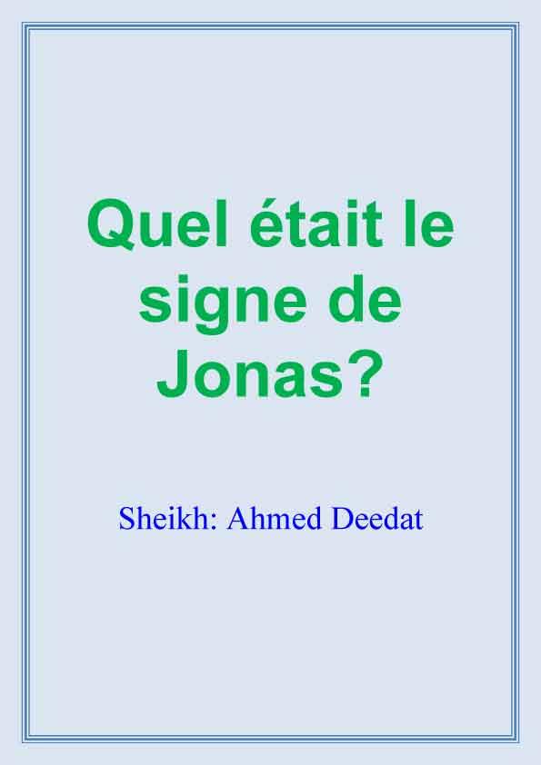 Quel était le signe de Jonas?