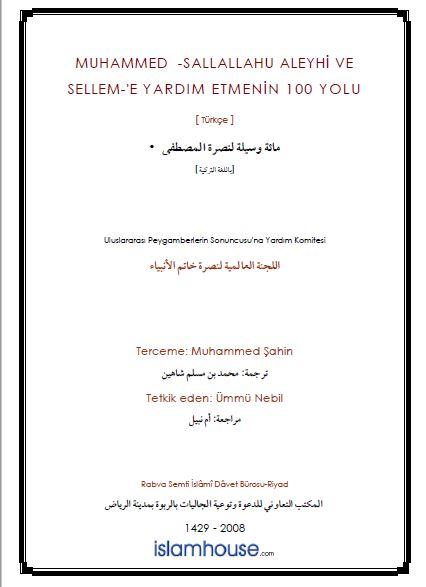 Muhammed - sallallahu aleyhi ve sellem-'e Yardım Etmenin 100 Yolu
