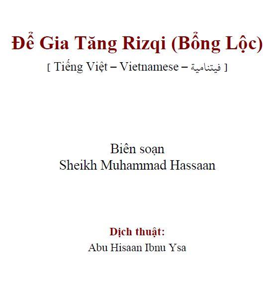 Để Gia Tăng Rizqi (Bổng Lộc)