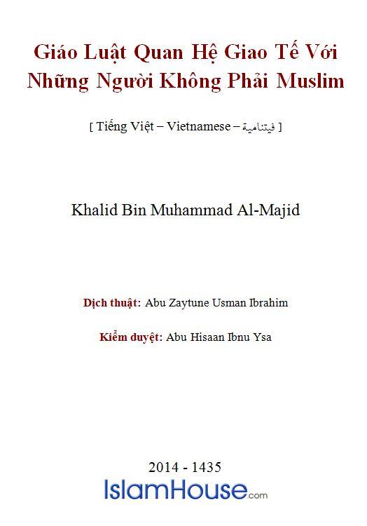 Giáo Luật Quan Hệ Giao Tế Với Những Người Không Phải Muslim